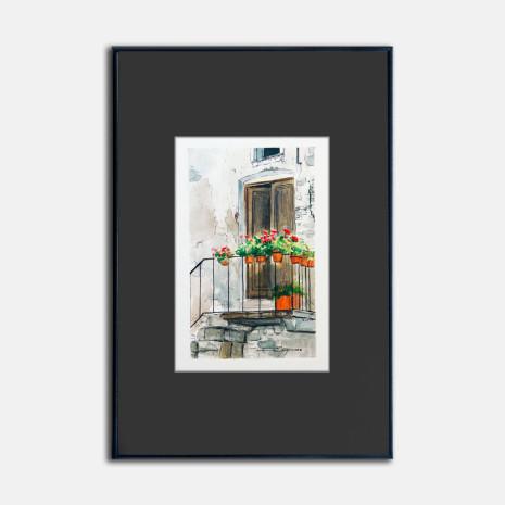 Arte en papel-El balcón