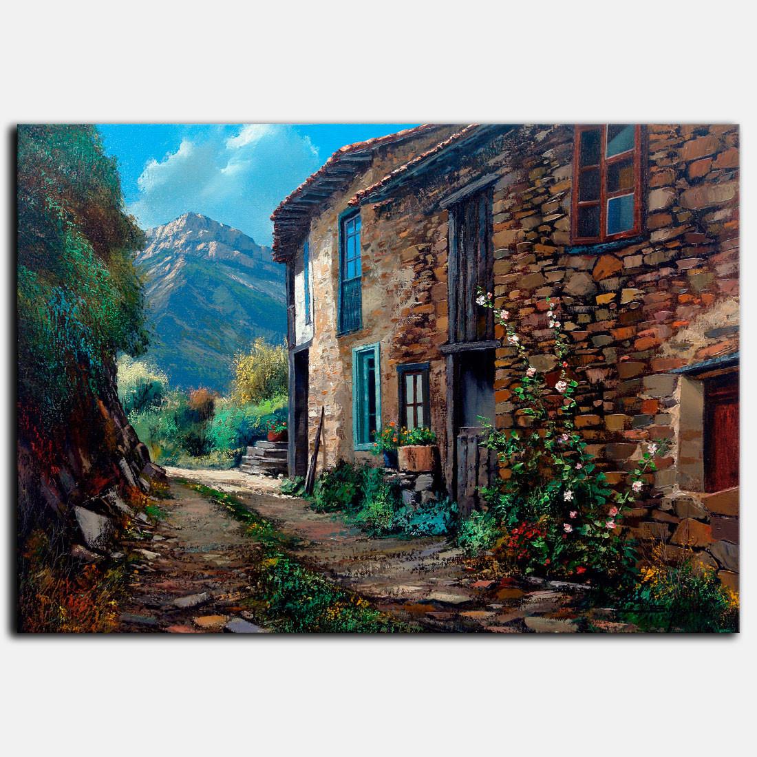 Cuadro paisaje-Asturias
