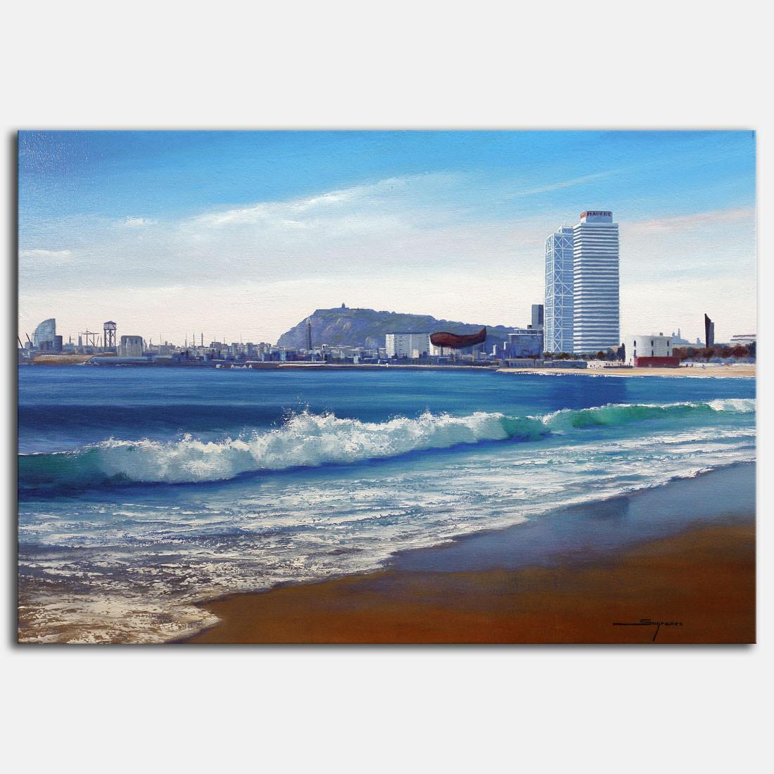 Cuadro Playa Barcelona